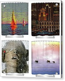 Shower Curtains Samples Acrylic Print