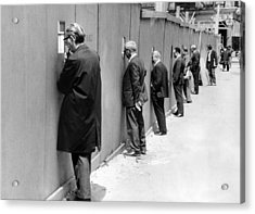 Sidewalk Superintendents Watching Acrylic Print