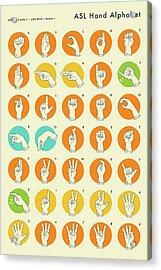 Sign Language Hand Alphabet - Asl Acrylic Print