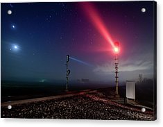 Signals And Fog Near Waldo Acrylic Print