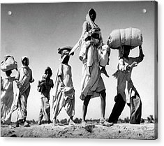 Sikh Carrying His Wife On His Shoulders Acrylic Print