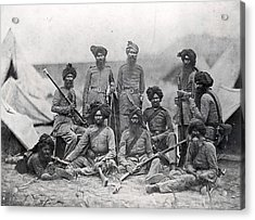 Sikh Soldiers Acrylic Print by Felice Beato