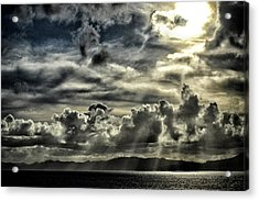 Acrylic Print featuring the photograph Silver Sun Over St. Lucia by Bill Swartwout Fine Art Photography