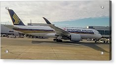 Singapore Airlines Airbus A350 At San Francisco International Airport Acrylic Print