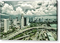 Acrylic Print featuring the photograph Singapore by Chris Cousins