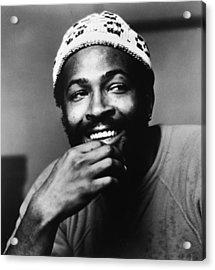 Singer Marvin Gaye In Knit Cap Acrylic Print