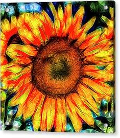 Single Sunflower Art Acrylic Print