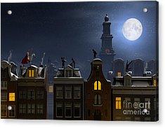 Sinterklaas And The Pieten On The Acrylic Print