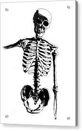 Skeleton Study Acrylic Print