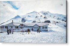 Acrylic Print featuring the photograph Ski Center On Top Of The Bayo Hill by Eduardo Jose Accorinti