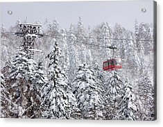 Ski Lift On Asahidake, Daisetsuzan Acrylic Print by Radius Images