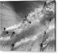 Skiers To The Rescue Acrylic Print