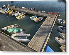 Skiffs In Rockland Harbor Acrylic Print