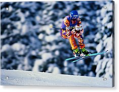 Skiing, Downhill Event, Competitor Acrylic Print