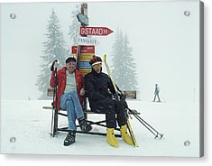Skiing Holiday Acrylic Print