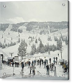 Skiing In Vail Acrylic Print