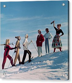 Skiing Party Acrylic Print by Chaloner Woods
