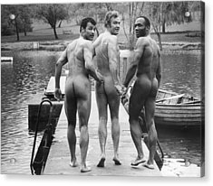 Skinnydippers Acrylic Print by Evening Standard