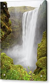 Acrylic Print featuring the photograph Skogafoss Iceland by Nathan Bush