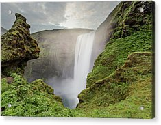 Acrylic Print featuring the photograph Skogafoss Waterfall by Nicole Young