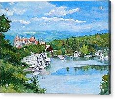 Sky Lake, Mohonk Acrylic Print by Mira Fink