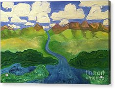 Sky River To Sea Acrylic Print