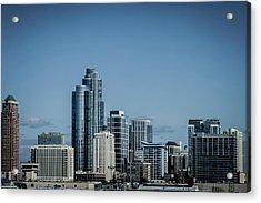 Skyline Acrylic Print by By Ken Ilio