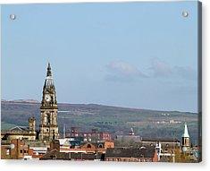 Skyline Of Bolton, Lancashire Acrylic Print by Joeclemson