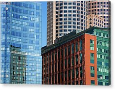 Skyscrapers, Fort Point Channel Acrylic Print by Design Pics / Richard Cummins