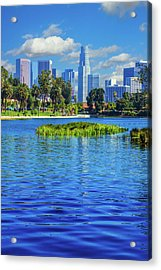 Skyscrapers Of Los Angeles Acrylic Print by Ron thomas