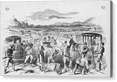 Slaves Forced To Work On Nashvillle Acrylic Print by Kean Collection