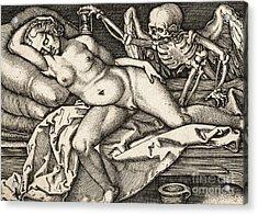 Sleeping Girl And Death, 1548 Acrylic Print