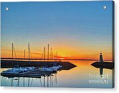 Sleeping Yachts Acrylic Print