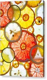 Sliced Citrus Fruits Background Acrylic Print