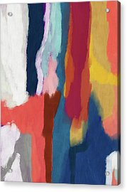 Slow Burn 2- Abstract Art By Linda Woods Acrylic Print