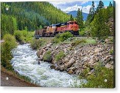 Slow Train Coming Acrylic Print by G Wigler
