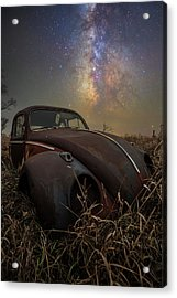 Acrylic Print featuring the photograph Slug Bug 'rust' by Aaron J Groen