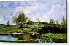 Sluice In The Optevoz Valley - Digital Remastered Edition Acrylic Print
