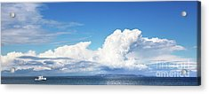 Small Boat And Big Sky Acrylic Print