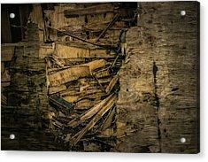 Smashed Wooden Wall Acrylic Print