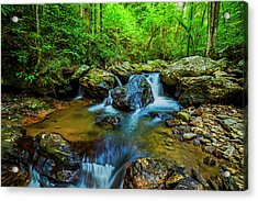 Acrylic Print featuring the photograph Smith Creek Cascade by Andy Crawford