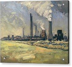 Smoke Stacks Prins Maurits Mine Acrylic Print
