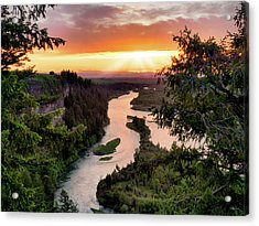Snake River Sunset Acrylic Print
