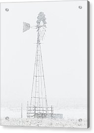 Acrylic Print featuring the photograph Snow And Windmill 04 by Rob Graham