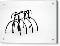 Snow Bikes Acrylic Print by Dana Klein