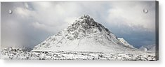 Acrylic Print featuring the photograph Snow Covered Mountain - Glencoe by Grant Glendinning