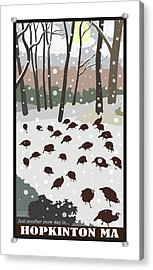 Snow Day In Hopkinton Acrylic Print