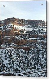 Snow Steps Acrylic Print