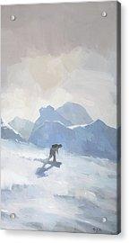 Snowboarding At Les Arcs Acrylic Print