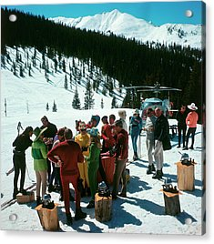 Snowmass Picnic Acrylic Print by Slim Aarons